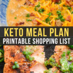 Easy Keto Meal Plan with Printable Shopping List (Week 18)