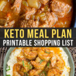 Easy Keto Meal Plan with Printable Shopping List (Week 19)