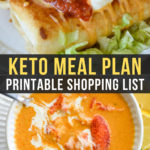 Easy Keto Meal Plan with Printable Shopping List (Week 20)