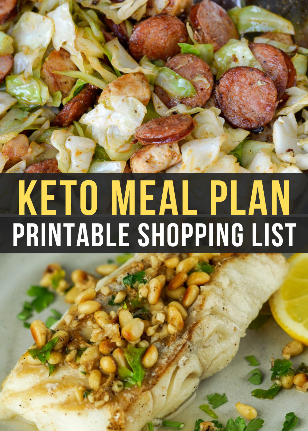 Week 21 of our Easy Keto Meal Plan includes delicious low carb dinners like Cajun Chicken Sausage Skillet and Lemon Butter Fish with Roasted Broccoli!