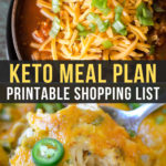 Easy Keto Meal Plan with Printable Shopping List (Week 22)