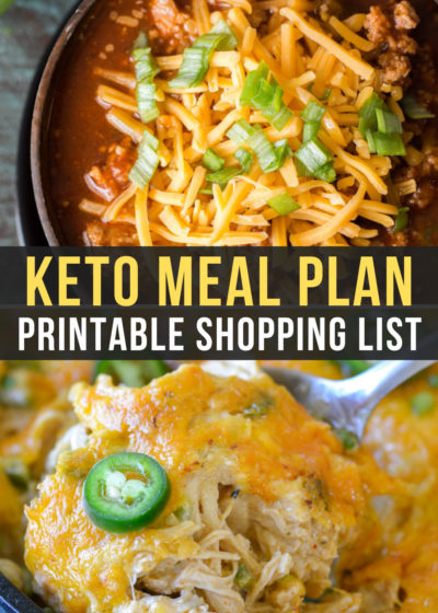 Week 22 of the Easy Keto Meal Plan includes delicious low-carb meals like Easy Keto Chili and Jalapeno Popper Chicken Skillet!